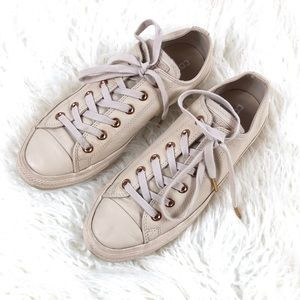Converse All Star Leather Tan Sneakers Unisex